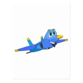 fighter Jet Cartoon Postcard