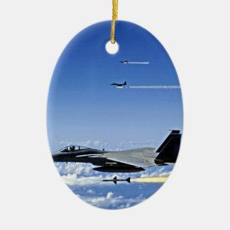 Fighter Jet Ceramic Ornament