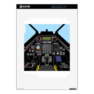 Fighter Jet Cockpit Decal For The iPad 2