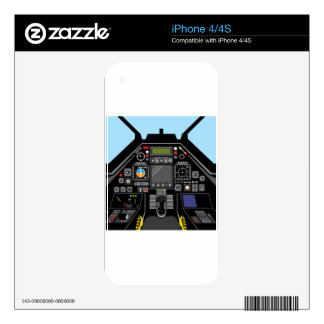Fighter Jet Cockpit Decal For The iPhone 4