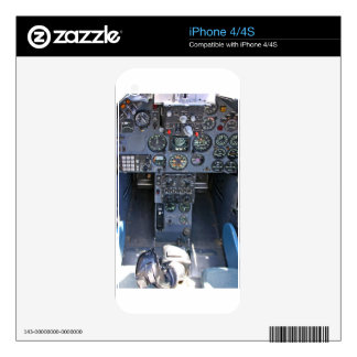 Fighter Jet Cockpit Decals For The iPhone 4S