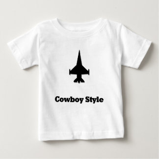 Fighter Jet Cowboy Style Baby T-Shirt