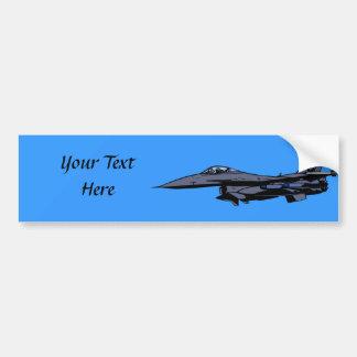 Fighter Jet Flying Bumper Sticker