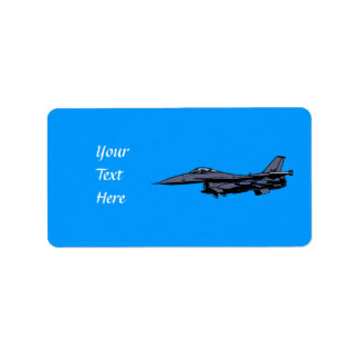 Fighter Jet Flying Label