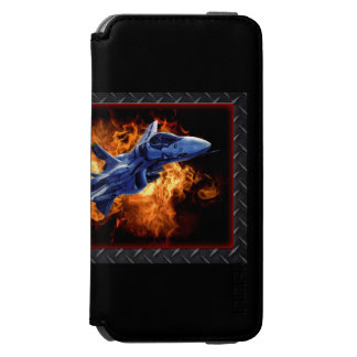 Fighter jet flying our of explosion iPhone 6/6s wallet case