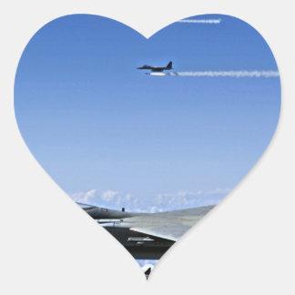 Fighter Jet Heart Sticker