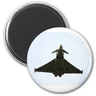 FIGHTER JET IN CLOUD 2 INCH ROUND MAGNET
