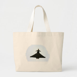 FIGHTER JET IN CLOUD LARGE TOTE BAG