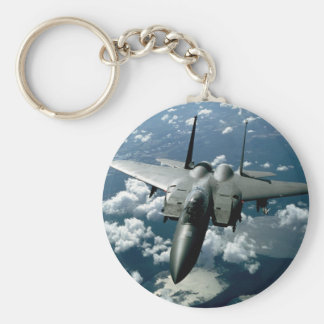 Fighter Jet Basic Round Button Keychain