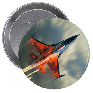 Fighter Jet Military airplane speed 4 Inch Round Button