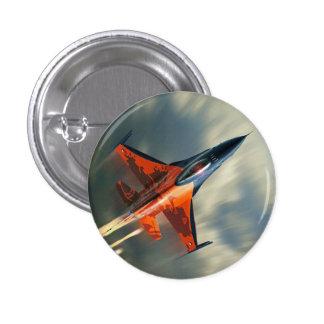 Fighter Jet Military airplane speed 1 Inch Round Button