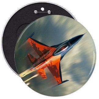 Fighter Jet Military airplane speed 6 Inch Round Button