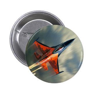 Fighter Jet Military airplane speed 2 Inch Round Button