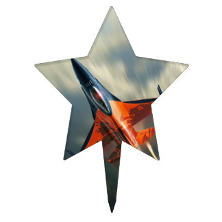 Fighter Jet Military airplane speed Cake Topper