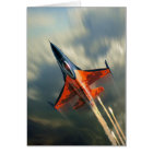 Fighter Jet Military airplane speed Card