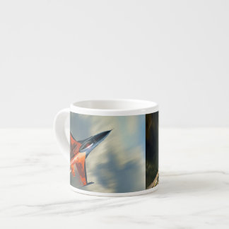 Fighter Jet Military airplane speed Espresso Cup