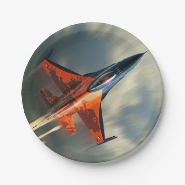 jurassic_world Fighter Jet Military airplane speed Paper Plate