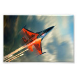 Fighter Jet Military airplane speed Photo Print