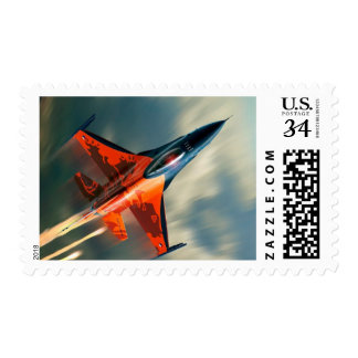 Fighter Jet Military airplane speed Postage