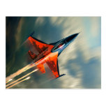 Fighter Jet Military airplane speed Postcard