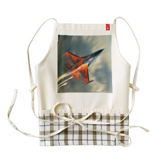 Fighter Jet Military airplane speed Zazzle HEART Apron