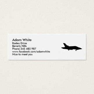 Fighter jet mini business card