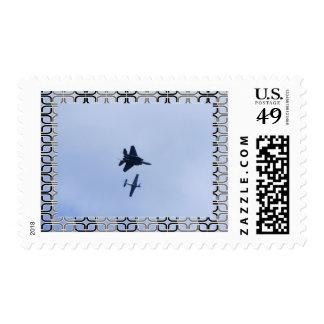 fighter jet postage stamp