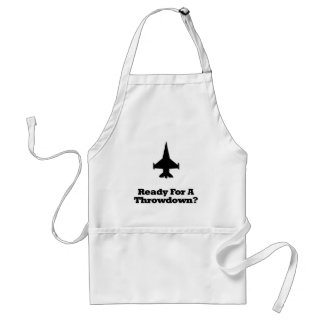 Fighter Jet Ready For A Throwdown Adult Apron