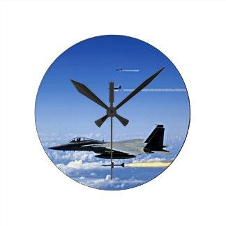 Fighter Jet Round Clock