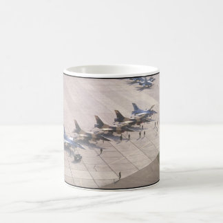 Fighter jets on ramp ready_Military Aircraft Coffee Mug