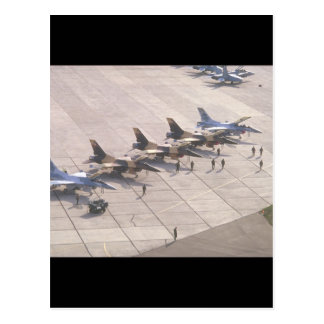 Fighter jets on ramp ready_Military Aircraft Postcard