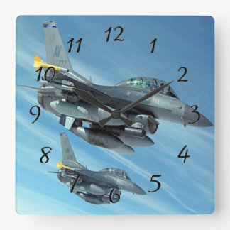 Fighter Jets Square Wall Clock