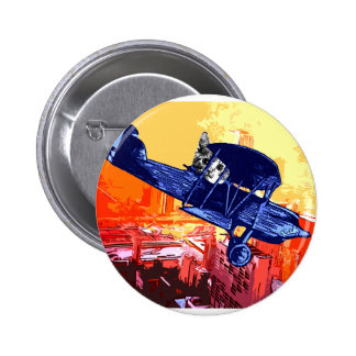 Fighter Meow Pinback Button