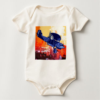 Fighter Meow Baby Bodysuits