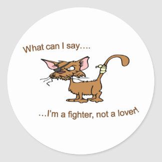 Fighter Not Lover Classic Round Sticker