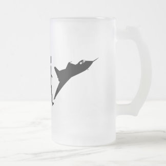 Fighter pilot flying Tees and Airforce pilot gifts Frosted Glass Beer Mug