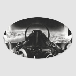 Fighter Pilot Helmet Sticker