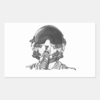 Fighter Pilot Rectangular Sticker