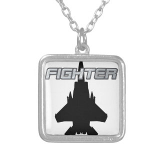 Fighter Pilot Silver Plated Necklace