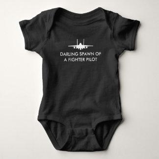 Fighter Pilot Spawn F-15E Funny Baby - White Baby Bodysuit