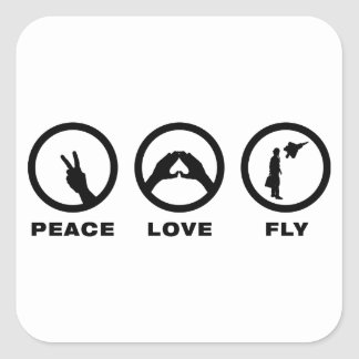 Fighter Pilot Square Stickers