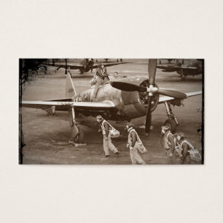 Fighter Pilots Training on P-47 Thunderbolts Business Card