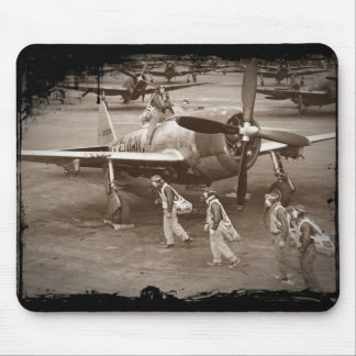 Fighter Pilots Training on P-47 Thunderbolts Mouse Pad