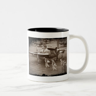 Fighter Pilots Training on P-47 Thunderbolts Two-Tone Coffee Mug