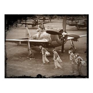 Fighter Pilots Training on P-47 Thunderbolts Postcard