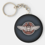 Fighter Pirate Basic Round Button Keychain