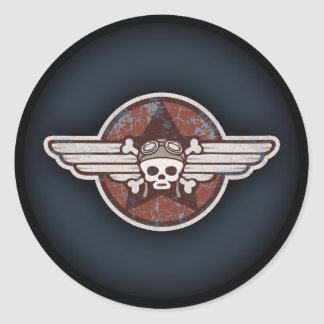 Fighter Pirate Classic Round Sticker