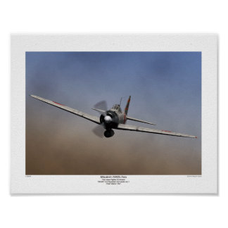 Fighter plane 3Ring on Mitsubishi zero type Poster