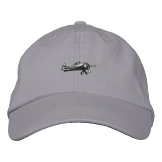 Fighter Plane Embroidered Baseball Hat