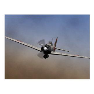 Fighter plane on Mitsubishi zero type warship Postcard